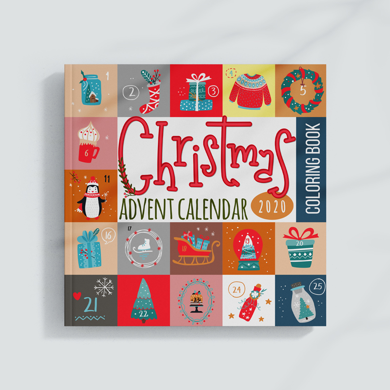 christmas advent coloring bool